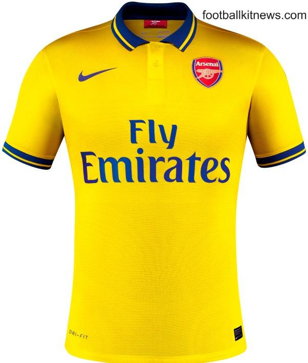 Yellow Arsenal Jersey 2013 14