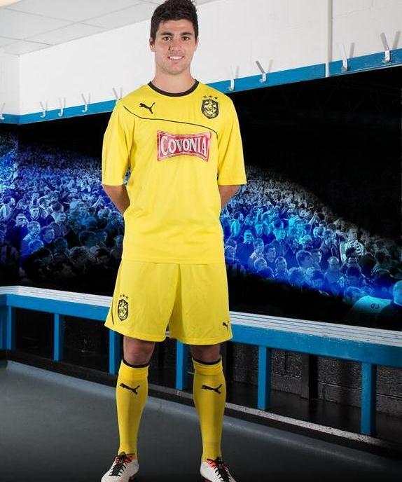New Huddersfield Third Kit 2013 14 Yellow