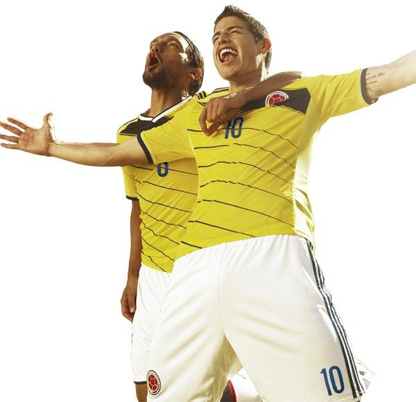 New colombia world cup 2014 kit colombia wc 2014 home shirt adidas