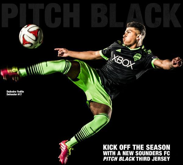 Black Sounders Third Jersey 2014