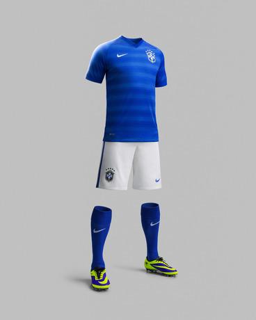 Blue Brazil Away Kit 2014 15