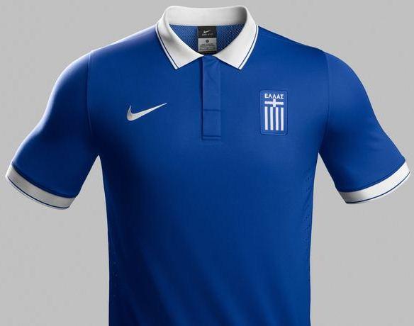 Blue Greek Football Shirt 2014