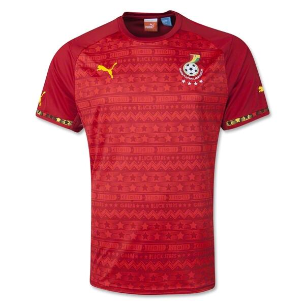 Red Ghana Jersey 2014 World Cup