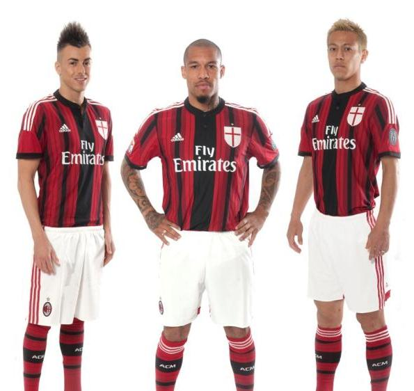 New AC Milan Home Kit 14 15