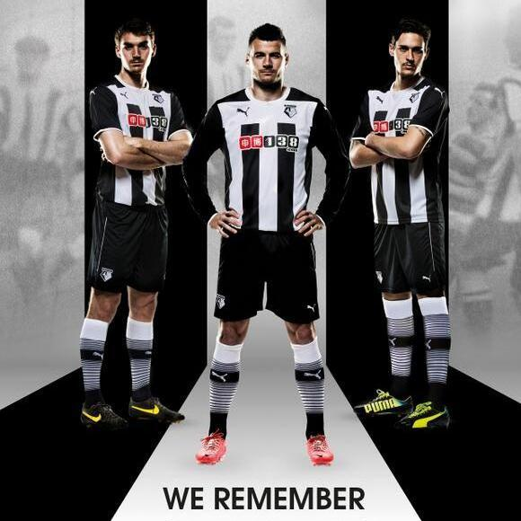 Black and White Watford Kit 2014 15