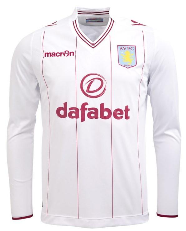 White Aston Villa Away Shirt 2014 15