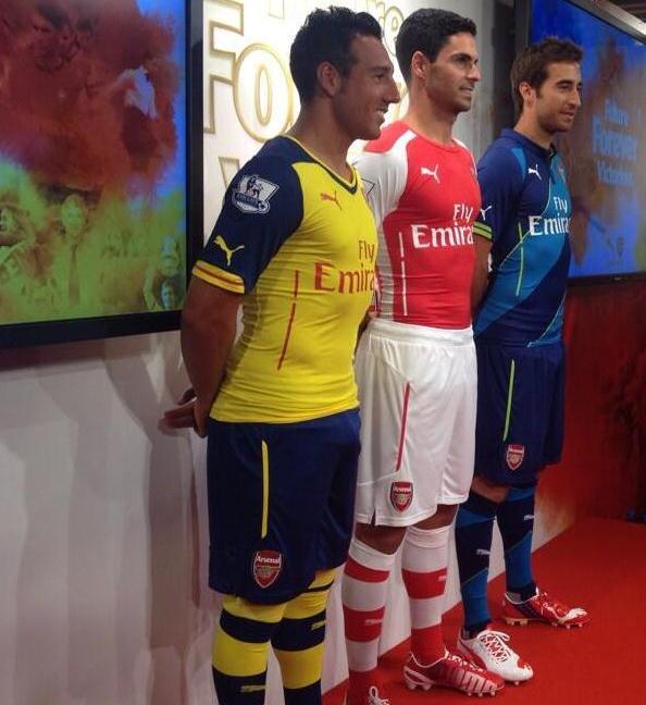 Official- New Arsenal Puma Kits 2014/2015- AFC Home Away Third Jersey 14/15