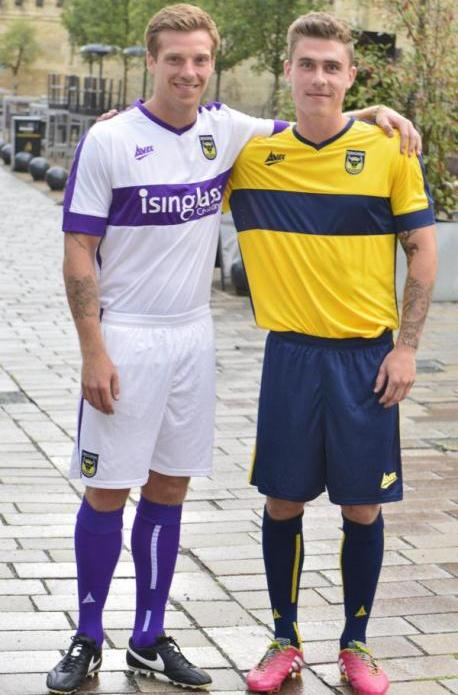 New Oxford United Kits 14/15- Avec Sports OUFC Home Away Shirts 2014/2015