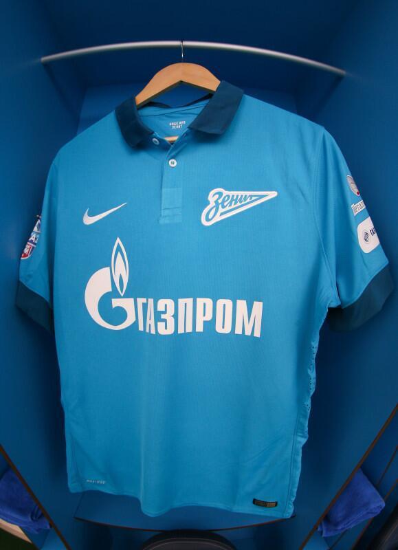 Blue Zenit Football Shirt 2014 15