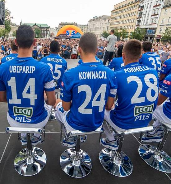 Lech Poznan Shirts Back