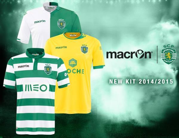 New Sporting Lisbon Jerseys 2014/2015- Macron Sporting CP Kits 14/15 Home Away Third