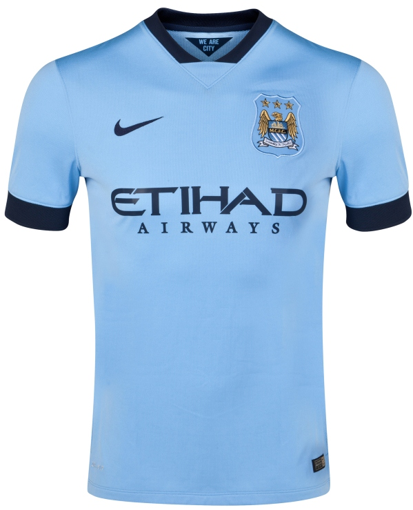 New Man City Kit 14/15- Nike Manchester City Home Jersey and GK Shirts 2014/2015