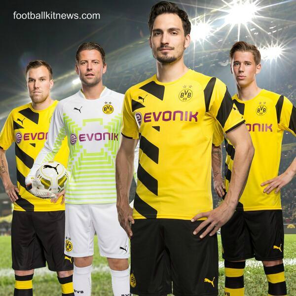 New Borussia Dortmund Kit 14/15- Puma BVB Jerseys 2014/2015 Home Away