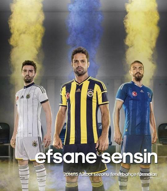 New Fenerbahce Kits 14-15- Adidas Fenerbahce Jerseys 2014-2015 Home Away Third