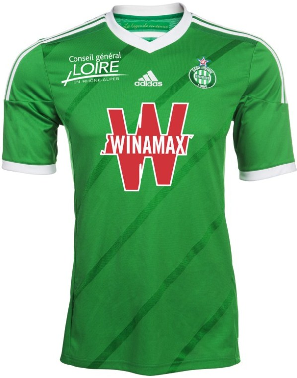 New AS Saint-Etienne Kits 14/15- Adidas ASSE Shirts 2014/15 Home Away