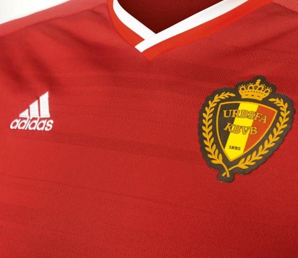 Belgium Adidas Jersey 2014 2015 Closeup