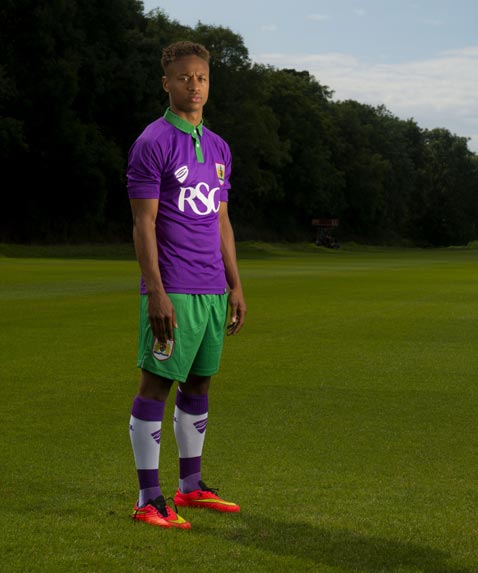 Bristol City Purple Lime Shirt 2014 2015
