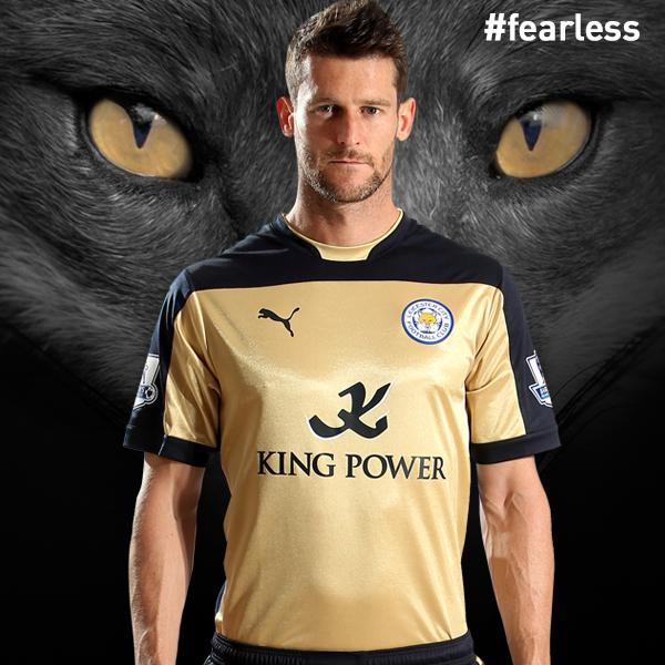 New Leicester City Away Kits 14/15- Gold and Red Jerseys LCFC Puma