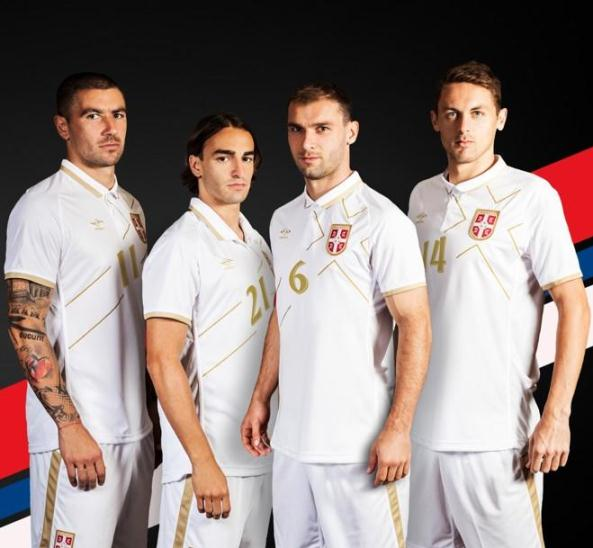 New Serbia Umbro Jersey 2014-2015- Serbia White Away Kit 14/15