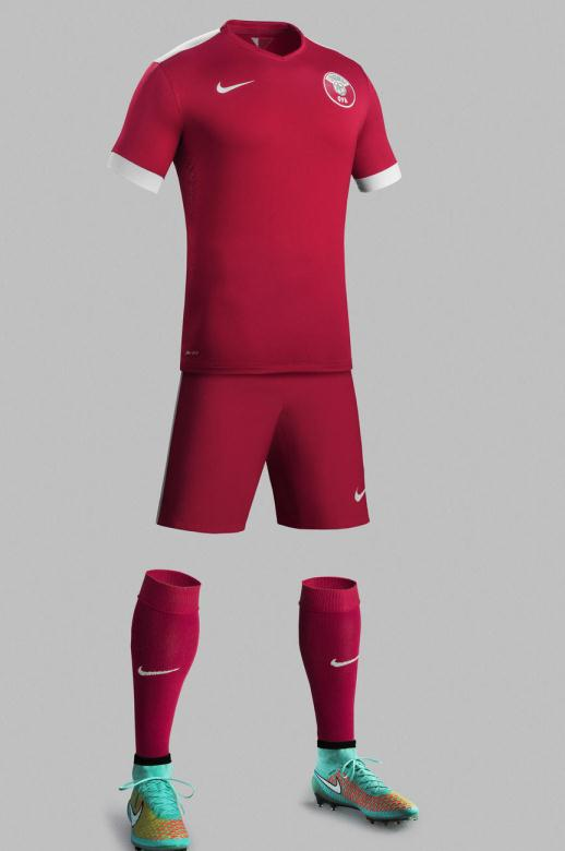 New Qatar Nike Football Kits 2014-2015- Qatar Home Away Jerseys 14-15