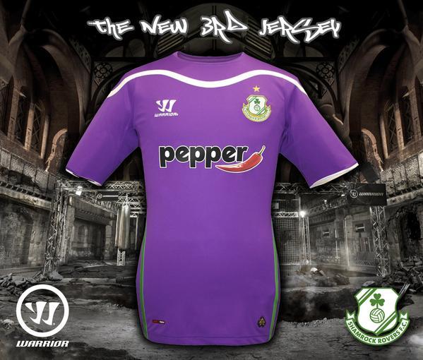 New Shamrock Rovers Third Jersey 2015- Purple Shamrock Away Kit 2015