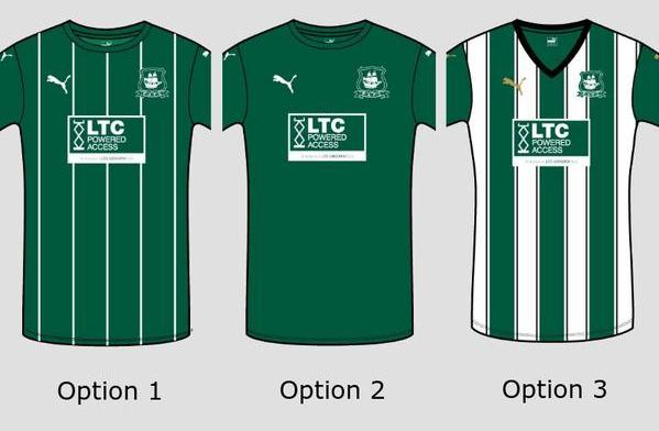 New Plymouth Argyle 2015/16 Kit Vote
