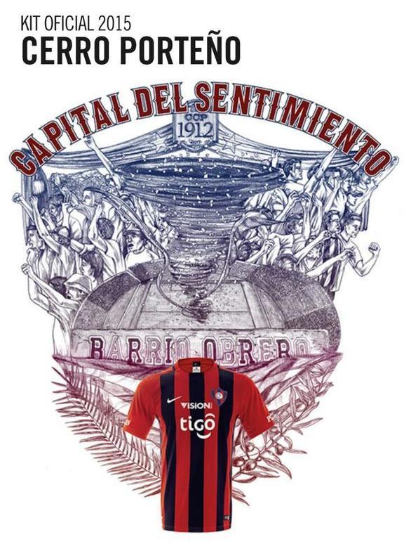Cerro Porteno Jersey 2015