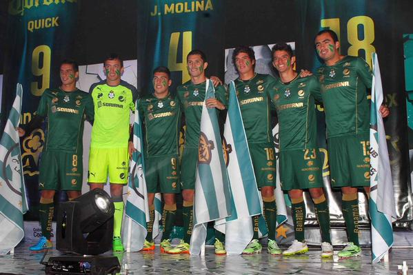 New Club Santos Laguna Third Jersey 2015- Green Santos Laguna Shirt 2015 Puma