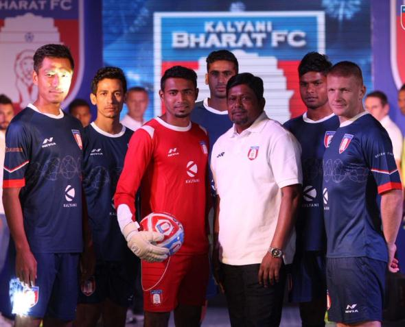 New Bharat FC Jersey 2015- Nivia Sports Kalyani Bharat FC Home Kit 2015