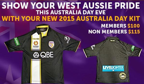 New Perth Glory Third Kit 2015- Macron Perth Glory Australia Day Jersey 2014/15