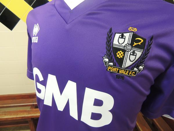 New Port Vale Purple Shirt 2014/2015- Errea Vale Third Kit 14-15
