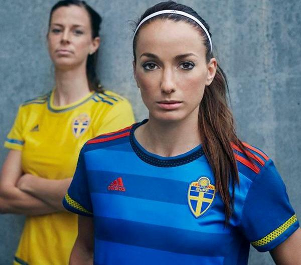 New Sweden Womens Soccer Jersey 2015- Adidas Sweden Women's Shirt World Cup Altewai Saome