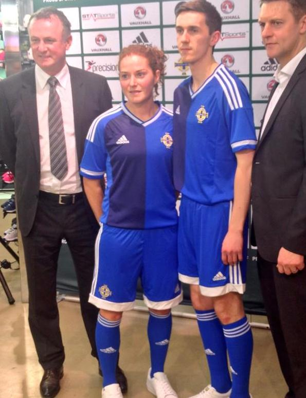 Blue Northern Ireland Soccer Jersey 2015
