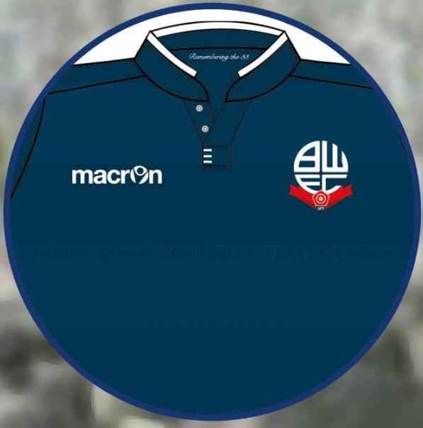 New Bolton Third Kit 15/16- Special Macron BWFC Burnden Disaster Shirt 2015-16