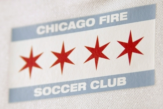 Chicago Flag on Fire Jersey 2015