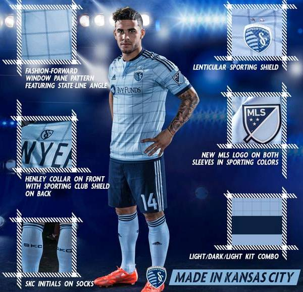 New Sporting Kansas City Jersey 2015- Adidas Sporting KC Home Kit 2015