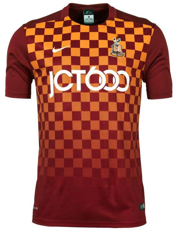 New Bradford City Kit 15/16- BCAFC Nike Shirts 2015-16 Home Away