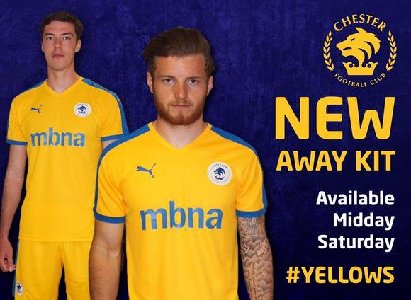 Chester FC Yellow Shirt 2015 16