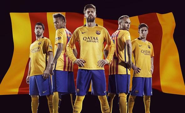 Barcelona Away Kit 15 16