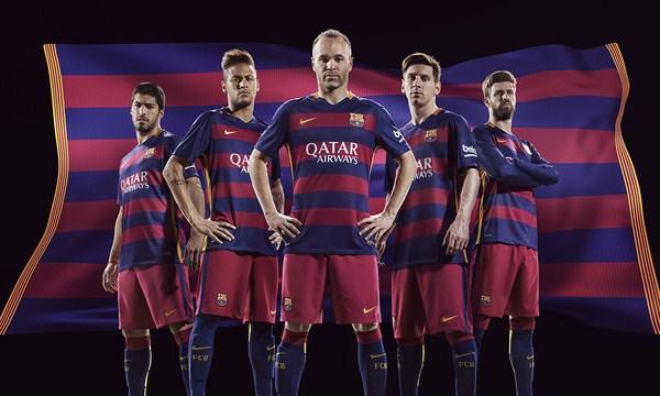 Barcelona Home Kit 15 16