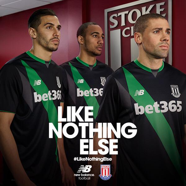 Black Green Stoke City Away Kit 2015 16
