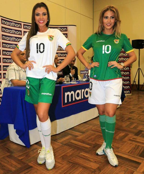 New Bolivia Copa America Shirts 2015- Marathon Sports Bolivia Kits 15-16