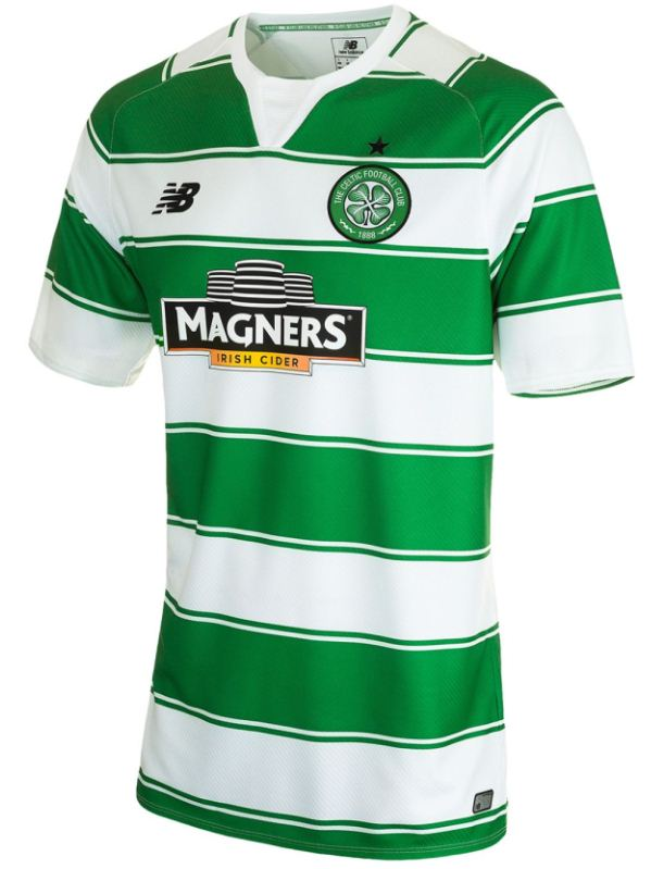 Celtic New Balance Strip 15-16- New Celtic Home Top 2015-2016