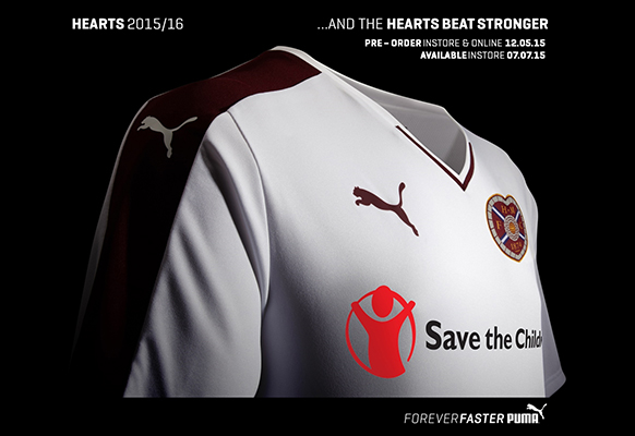 Hearts Away Top 2015 16