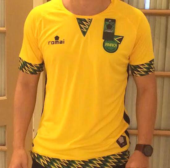 New Jamaica Romai Jersey- Reggae Boyz Romai Kit 2015