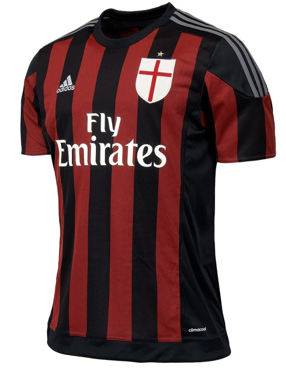 New AC Milan Home Jersey 2015-2016 & Goalkeeper Kit 2015/16 by Adidas