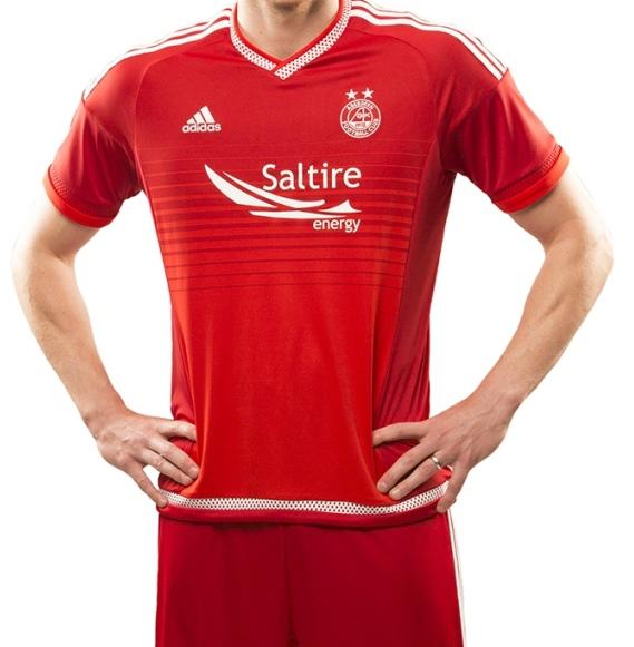 New Aberdeen Strip 2015-16- Adidas Aberdeen FC Home Top 15-16