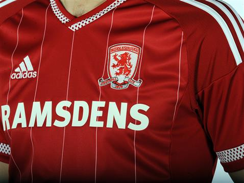 New Boro Strip 15-16- Adidas Middlesbrough Home Kit 2015-16