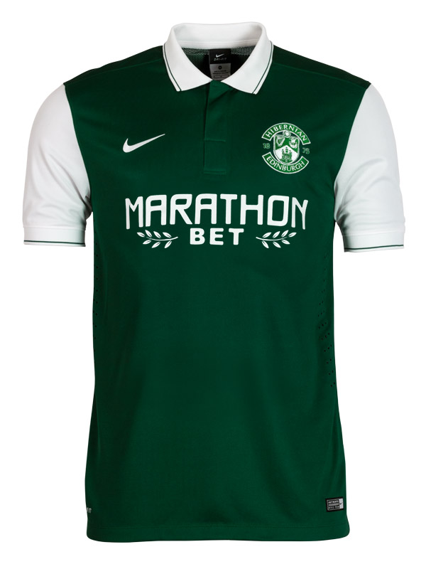 New Hibs Strip 15/16- Hibernian FC Home Top 2015-2016