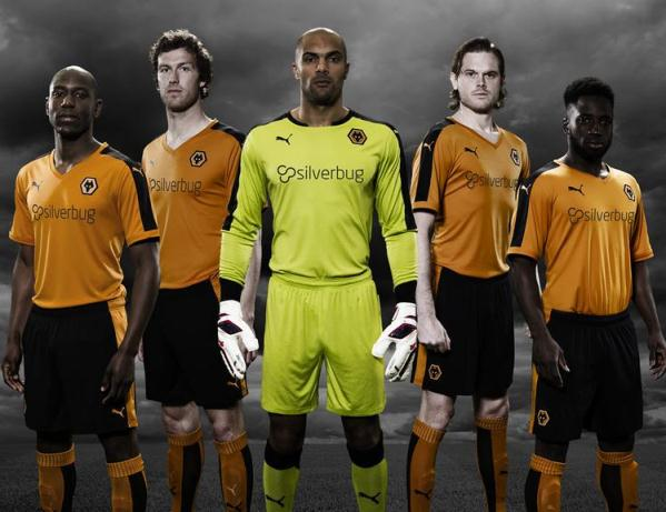 New Wolves Kit 2015-2016 Puma Wolverhampton Wanderers Silverbug Home Shirt 15-16